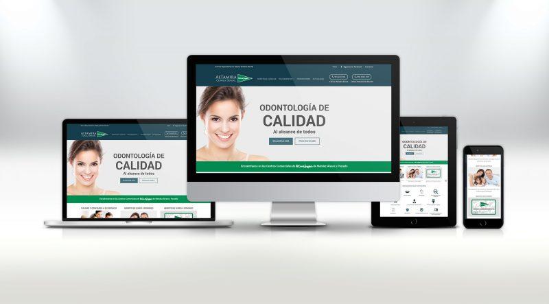 nueva web clínica altamira dental